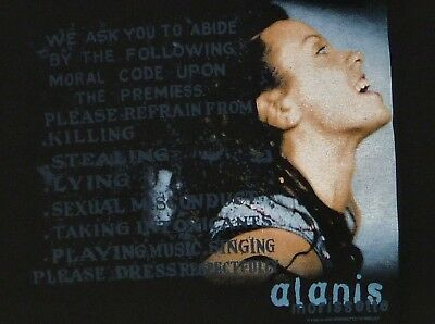ALANIS MORRISETTE Supposed Former Infatuation Junkie T-Shirt XL