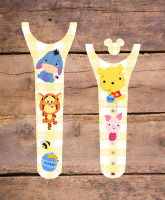 For Disney Magic Band 2 Decal Stickers Winnie The Pooh Inspired Eeyore Tigger