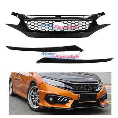 JDM Type R Front Hood Honeycomb Mesh Grill Griller For Honda Civic 2016-2017