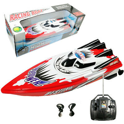 High Speed RC Remote Control Yacht 2 Motors Rapid Speedboat Boat Model Toy
