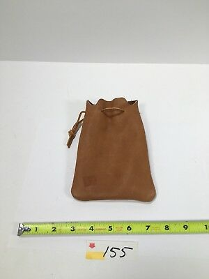 Small leather pouch drawstring