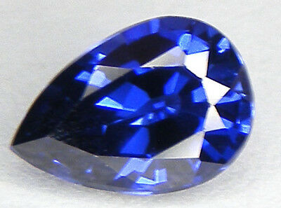 2,16CT. EXCELLENT SAPHIR BLEU CORINDON DE SYNTHESE T. POIRE 9,6x6,8 MM.