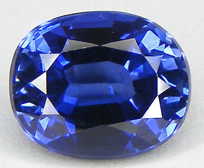 7,32CT. EXCELLENT SAPHIR BLEU CORINDON DE SYNTHESE T. OVALE 12,3x10 MM.
