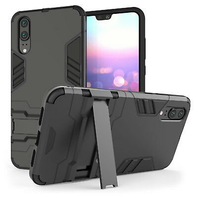 Huawei P20 / P20 Pro Case, Heavy Duty Armour Shockproof Stand Full Phone Cover