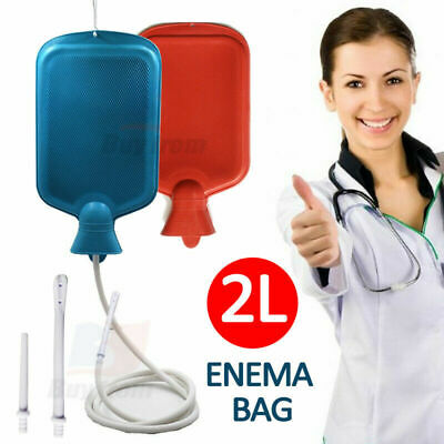 Reusable Premium Enema Douche Premium Enema Bag Kit BPA Free 2L Hot Water Bottle