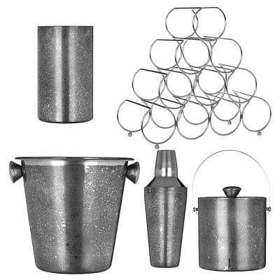 Champagne/Wine Bucket, Shaker, Cooler, Ice Bucket With Lid, Pyramid Rack