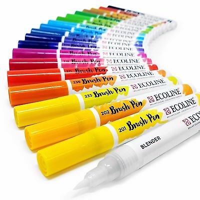 Royal Talens Ecoline Paint Brush Pens - Liquid Watercolour - Buy 4, Pay for 3