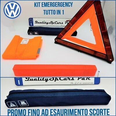 Kit EMERGENZA VW per auto camper TRIANGOLO RICHIUDIBILE + GILET catarifrangente