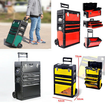 New 2-Drawer 3-Pcs Rolling Tool Box Case Trolley Storage Toolbox (#901)