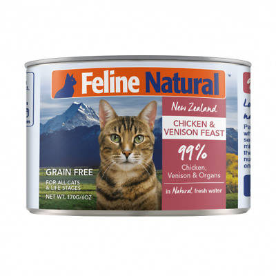 NEW Feline Natural Grain Free Canned Cat Food - Chicken and Venison
