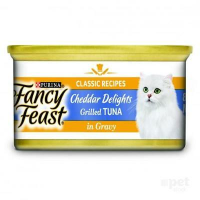NEW Fancy Feast - Tuna and Cheddar Cheese Feast in Gravy - Canned Cat Food - 85g