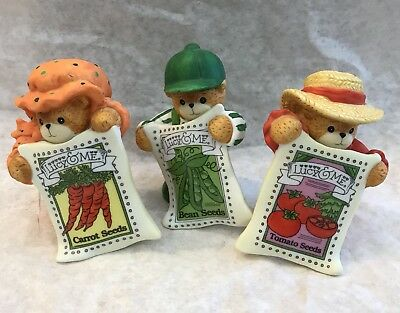 Lucy & Me Bears As Vegetable Seed Packets; FREE PRIORITY SHIPPING!!