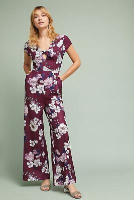 9e151aa44989 $218 ANTHROPOLOGIE YUMI Kim Floral Cutout Jumpsuit NWT new size S ...