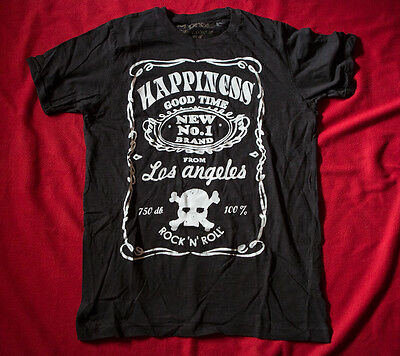 JACK DANEL'S style t-shirt HAPPINESS Rock'n'Roll size LARGE maglia