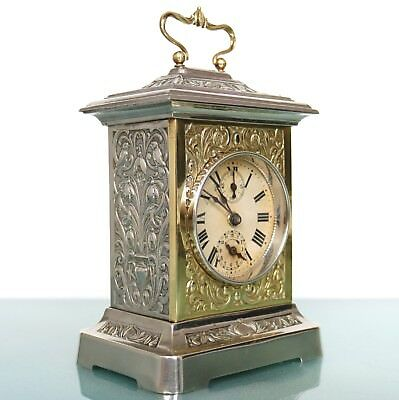 JAPY FRERES MUSICAL Alarm Mantel Clock SUPER CONDITION! RESTORED! Antique French