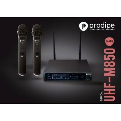 Système Double Micro Main UHF M850 DSP Duo PRODIPE