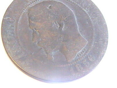 France 1856 5 Centimes-Napoleon III coin