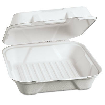 Harvest Fiber Hinged Containers, 9 x 9 x 3, 100/PK, 2 PK/CT HF200