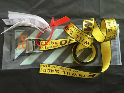 US HOT OFF WHITE Tie Down Nylon Cotton IRON Head Industrial Belt 200cm FREE P&P