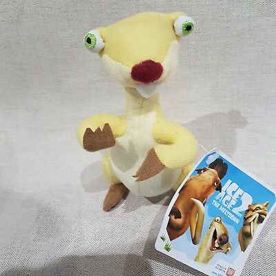 Sid the Sloth - Ice Age - NEW Soft Toy 6""
