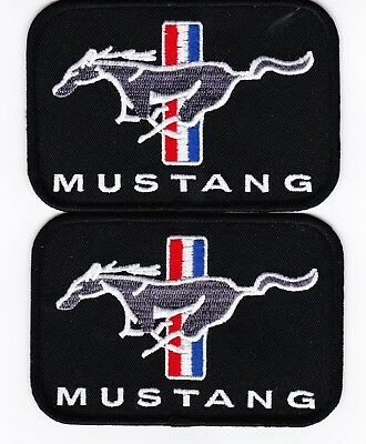Ford Mustang Pony (2) Sew/Iron On Patch Shirt Jacket Embroidered Racing