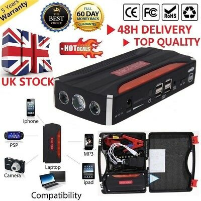 82800mAh Smart Car Jump Starter Emergency Charger Booster Power Bank Battery