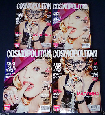 Lot 4 Czech Cosmopolitan Magazines 05/15 MADONNA Promo (Different Covers&Sizes)