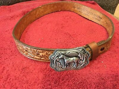 Child's Western Belt/Buckle Leather
