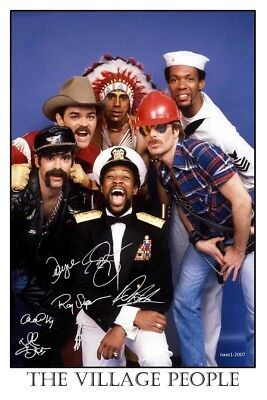 4x6 SIGNED AUTOGRAPH PHOTO PRINT OF THE VILLAGE PEOPLE #50
