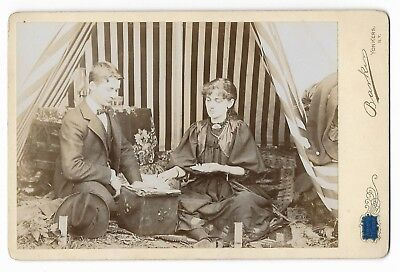 Antique FORTUNE TELLER Occult VICTORIAN GYPSY Divination TAROT CARDS Photograph