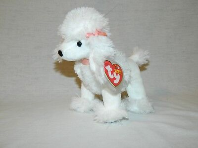TY Beanie Babies L'AMORE White French Poodle Puppy Dog Mint with Tag