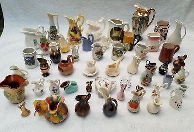 My Mom's Vintage Miniature Pitcher Collection - Lot of 51