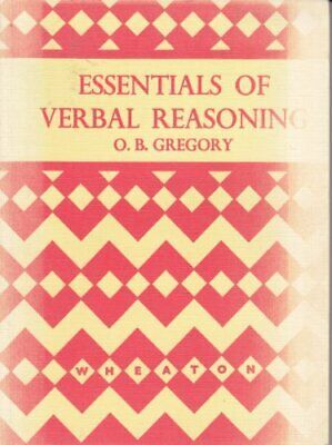 Essentials of Verbal Reasoning by Gregory, O.B. Paperback Book The Cheap Fast
