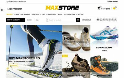 Outdoor Apparel & Equipment Ecommerce Website Business For Sale. 1-Click Install
