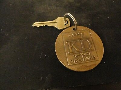 KING DAVID HOTEL ROOM KEY & VINTAGE BRONZE BRASS FOB Jerusalem Israel  דוד המלך