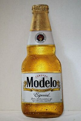 "Cerveza Modelo Especial Beer Bottle 22"" X 8"" Metal Sign New"