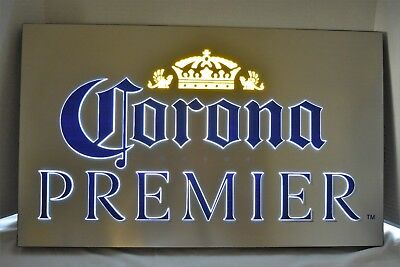 "Corona Extra Premier 25"" X 15"" 2 Color Led Light Sign New"