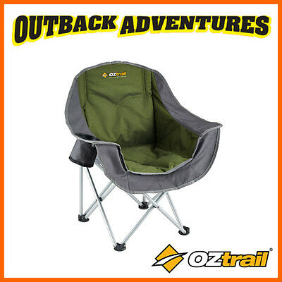 Oztrail Junior Moon Chair With Arms Green Children  Kids Camping Beach