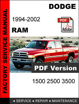 Dodge Ram 1994 1995 1996 1997 1998 1999 2000 2001 2002 Service Repair Manual