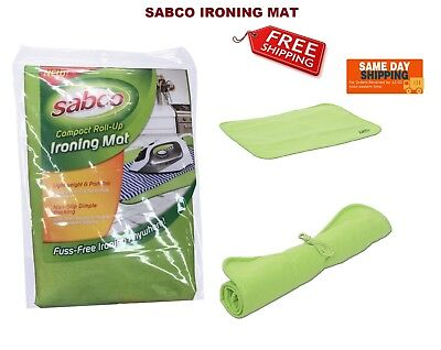 New Ironing Mat Cover Compact  Roll Up Portable Travel Non Slip Iron Anywhere