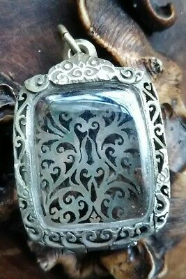 Old Amulet Case Made Of Silver Design For Amulet Or Object Size  2.9*3.5Cm A2
