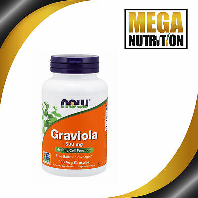 Now Foods, Graviola x100Caps - 24 Hour Dispatch - FRESHEST AVAILABLE GUARANTEED