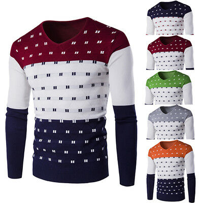Men's Casual Slim Fit Knitted Cardigan Pullover Jumper Sweater Top Knitwear Coat