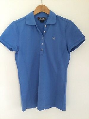 ARIAT sky blue equestrian Polo top size S (new)