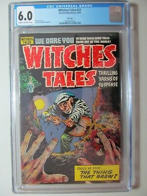 WITCHES TALES #27 GOLDEN AGE (CGC 6.0) Pre Code 1954 Horror Buried Alive