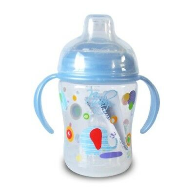 Natural Touch Bottle to Cup (4-12m) Blue