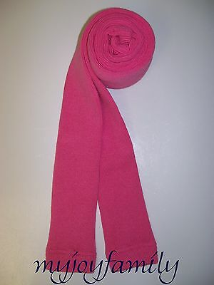 HANNA ANDERSSON Ribbed Ankle Footless Tights Bakery Pink 150 12 NWT