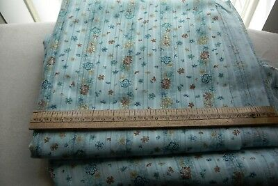 Vintage fabric with Open Weave and Lovely Flowers Dress/Apron/Dolls/Crafts