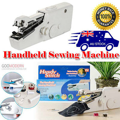 Single mini Portable Stitch Handheld Sewing Machine Quick Handy Cordless Repair