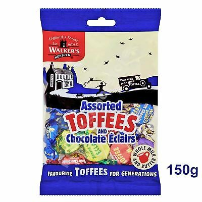 Walkers Nonsuch Assorted Toffees and Chocolate Eclairs 150g - British/UK